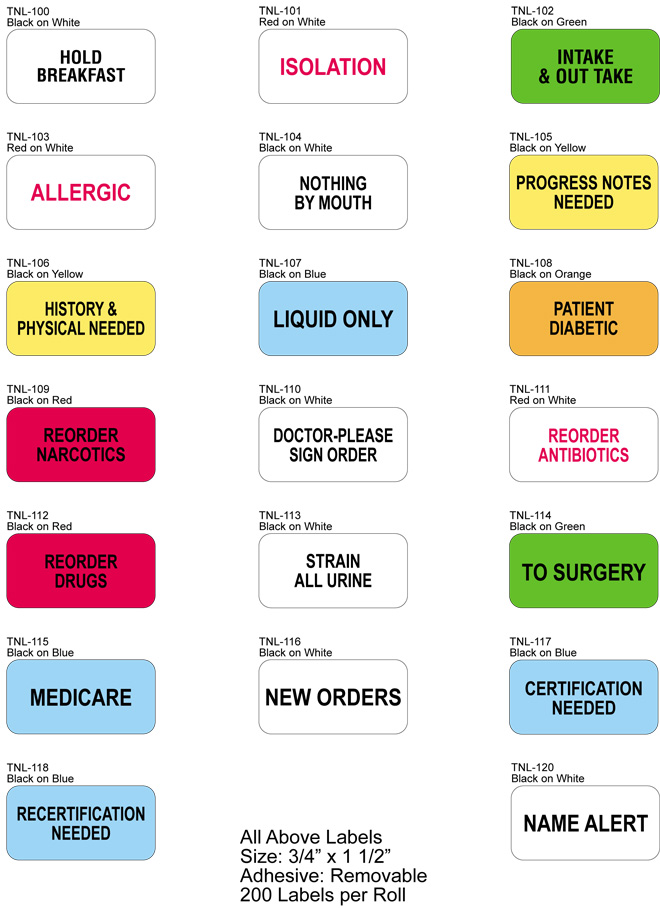 Nursing Labels