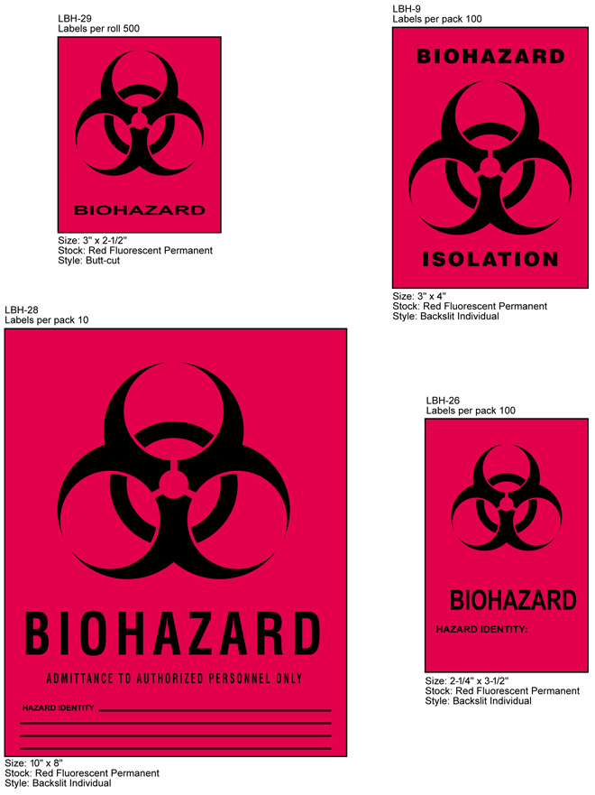 Biohazard & Precaution Labels