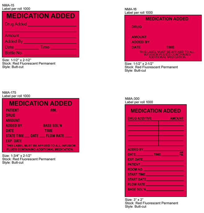 Stock Medication Added Labels